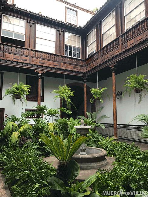 El patio interior de la Casa Alvarado Bracamonte