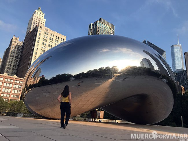 Disfrutamos de The Cloud Gate en solitario - Chicago