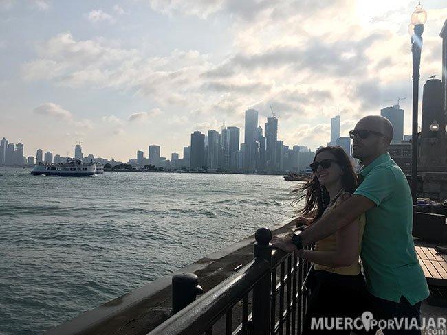 Disfrutando del Navy Pier - Chicago