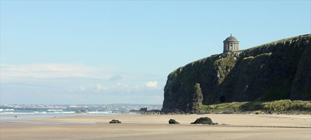La playa de Downhill Beach en Irlanda del Norte