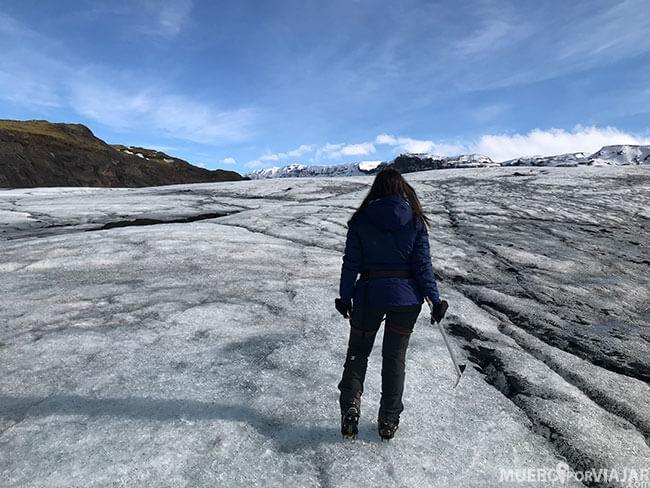 Caminata por el glaciar Sólheimajökull