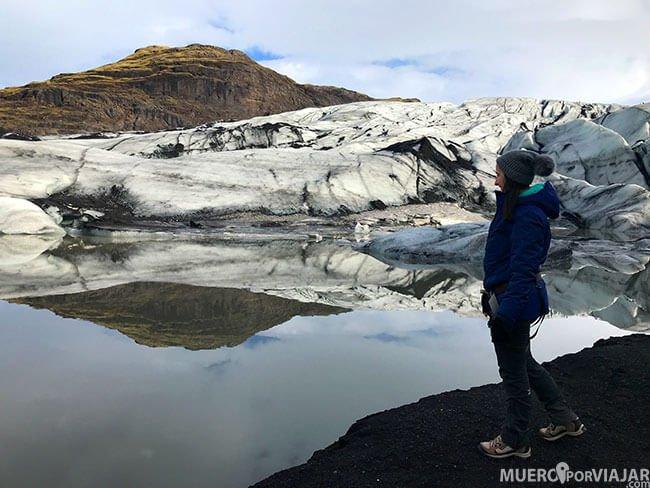 Glaciar Sólheimajökull en Islandia