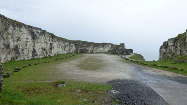 Larrybane Bay en Irlanda del Norte