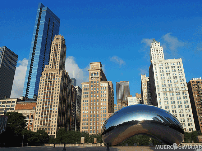 The Cloud Gate en Millenium Park - Chicago