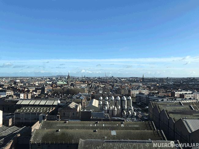 Vustas de Dublín desde el mirador