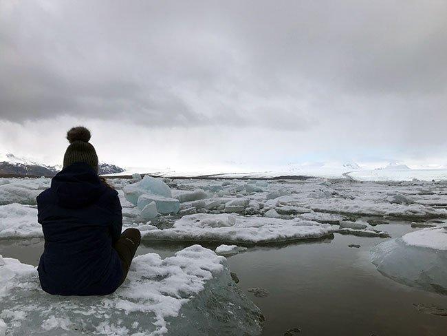 La inmensidad del glaciar en Islandia