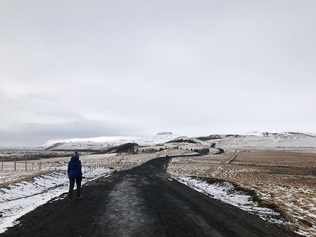El camino hacia el cañon Fjadrargljufur