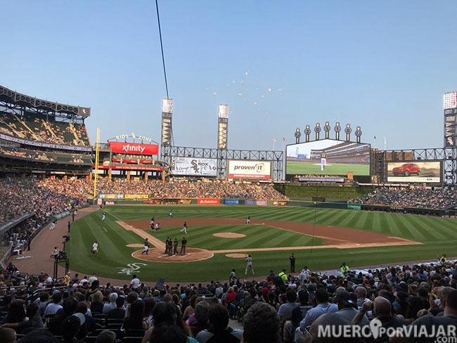 Partido de baseball en el White Sox Stadium