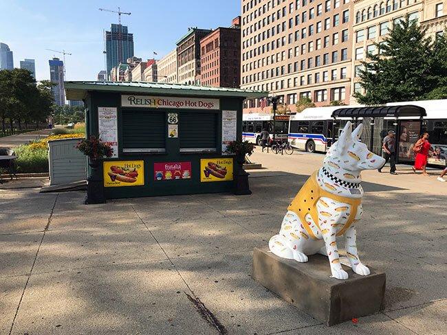 Puesto de venta de Hot Dog en Chicago