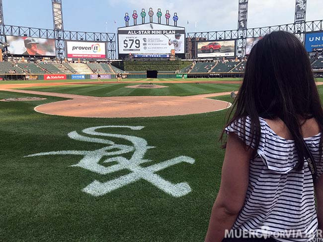Bajar al campo de baseball de los White Sox es una experiencia que no se vive todos los días