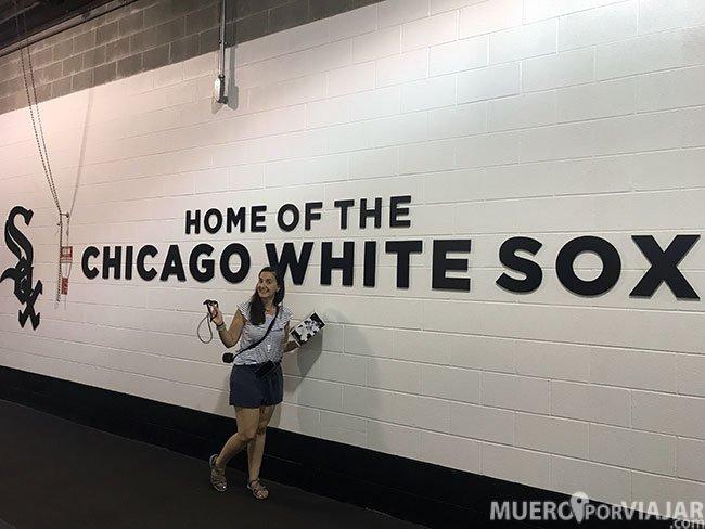 Pudimos visitar las zonas vip del estadio de los White Sox