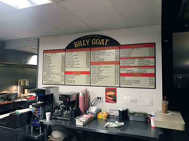 Otra hamburgueseria famosa es el Billy Goat en Chicago