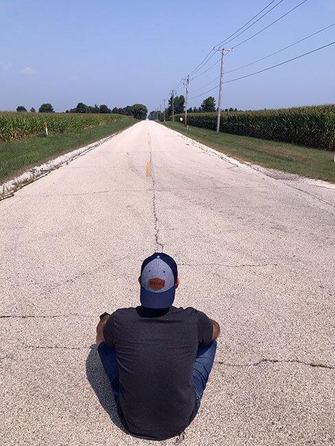 Un tramo de carretera original de la Ruta 66 en Joliet