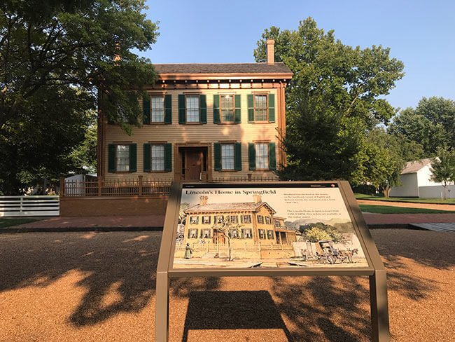 La casa donde nació Lincoln en Springfield