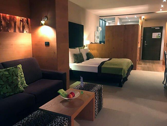 Nuestra habitación en La Maiena Meran Resort