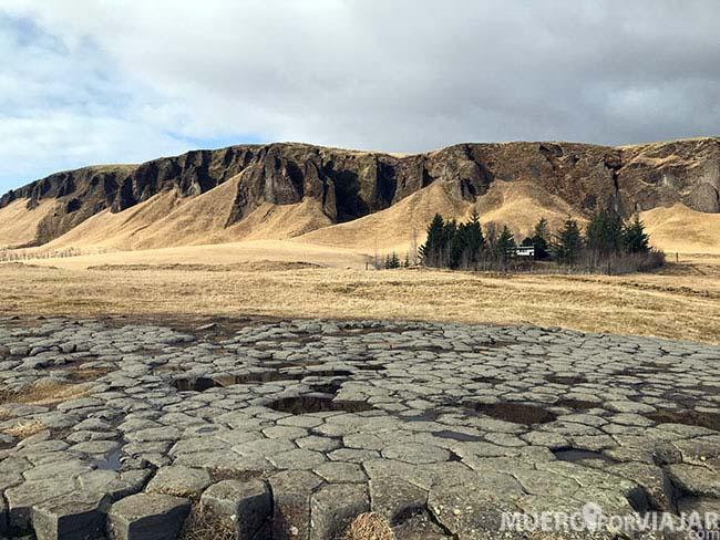 Las columnas de basalto de Kirkjugólf