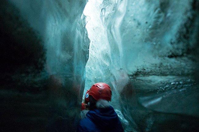 Pudimos disfrutar de una experiencia única: pasar entre bloques de hielo