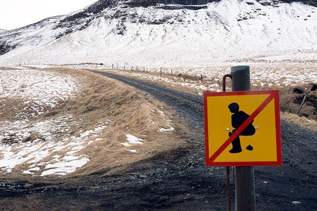 Señales super raras qeu encuentras por Islandia