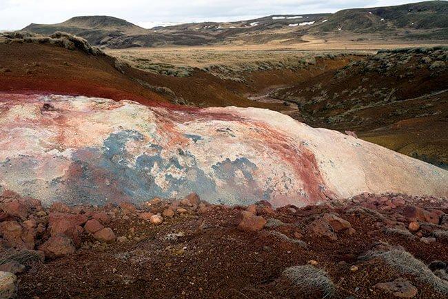 Colores casi imposibles en la roca