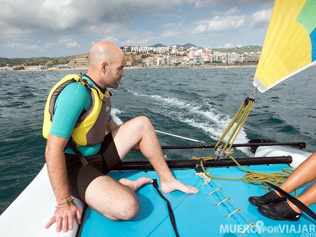 Nuestra salida en Catamarán en el Maresme