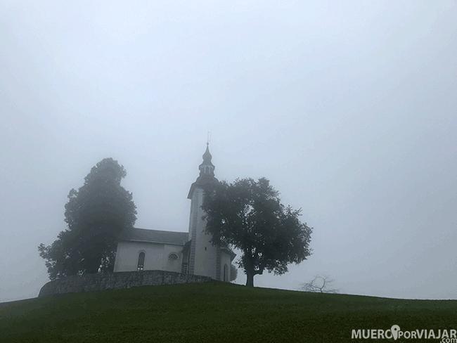 La iglesia de Cerkev Sv. Tomaž en Eslovenia