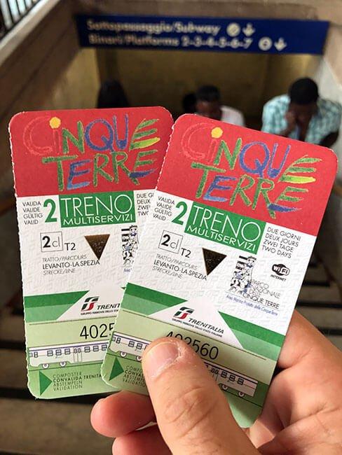 La Cinque Terre Card para poder acceder a los senderos de la zona