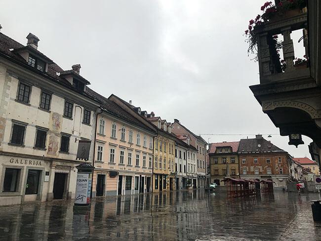 Como había llovido, teníamos todo Kranj para nosotros