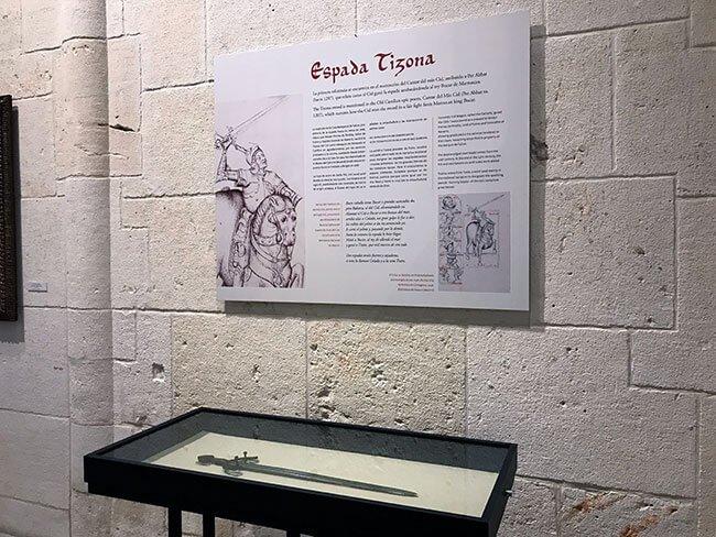 La espada tizona del cid en el museo de Burgos