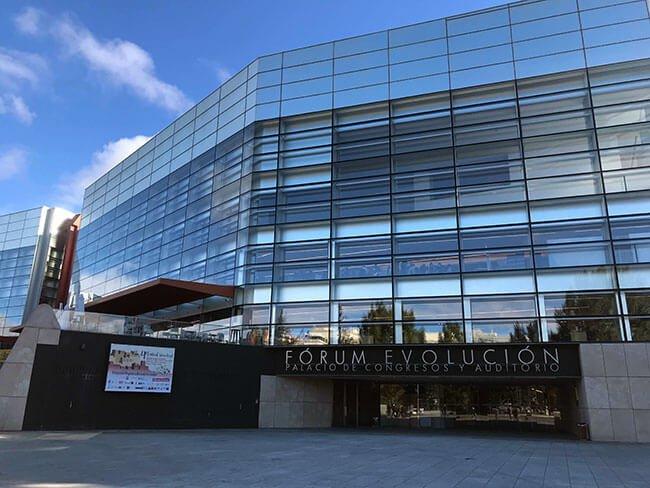 La fachada del museo de la evolución humana de Burgos