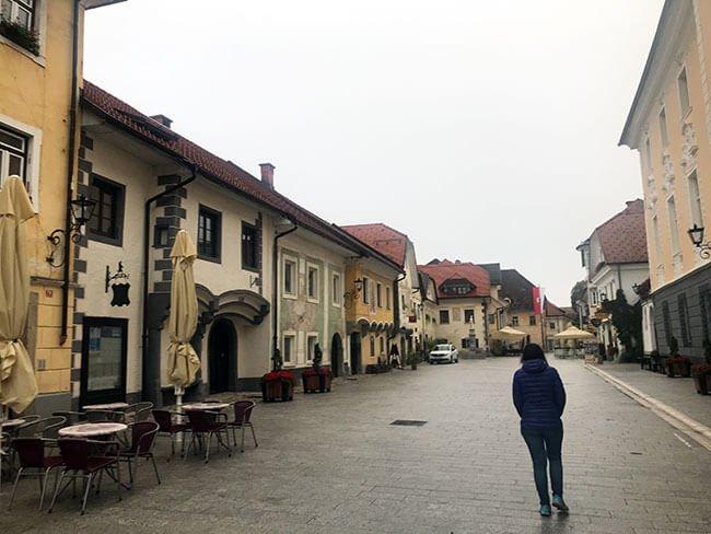 Nuestras visitas por Eslovenia fueron muy tranquilas, teníamos los pueblos para nosotros solos