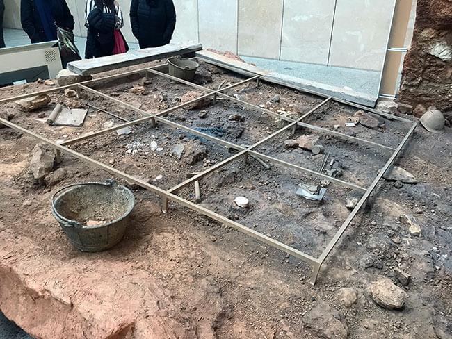 Recreación de excavación en el museo de burgos
