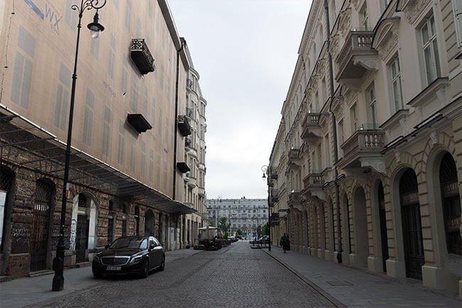 La calle Prozna en Varsovia