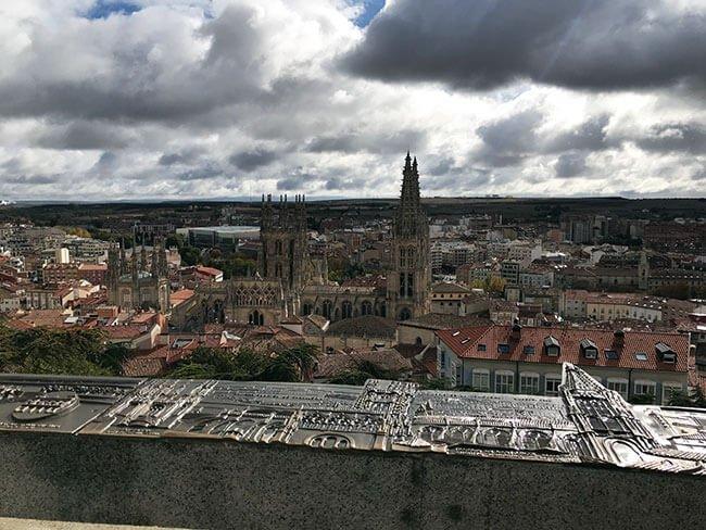 Vista de Burgos desde el mirador