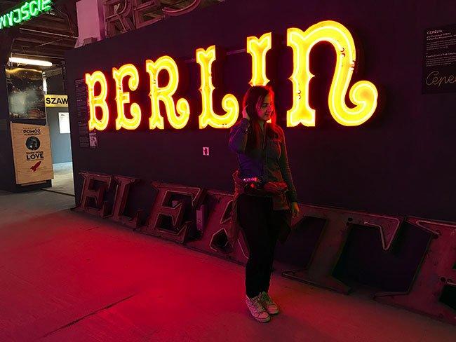 Alguno de los neones del Museo del Neón