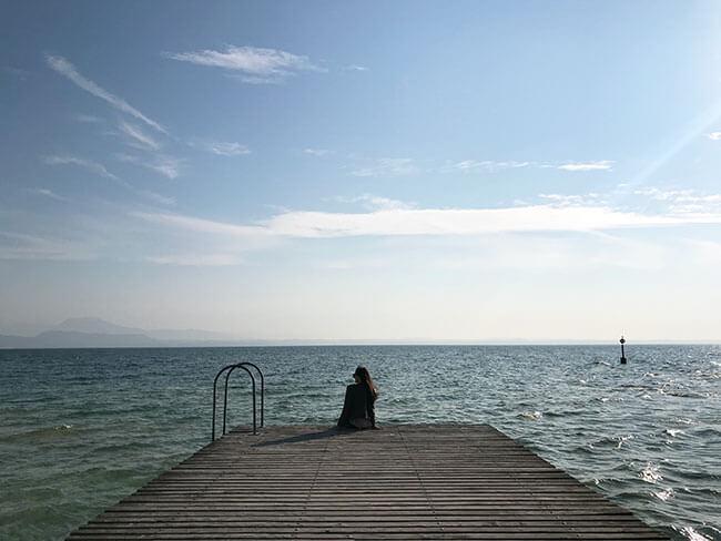 El lago di Garda, el más grande de Italia