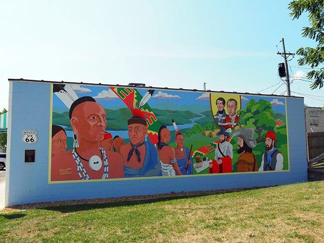 Los murales abarcan toda la historia de Estados Unidos