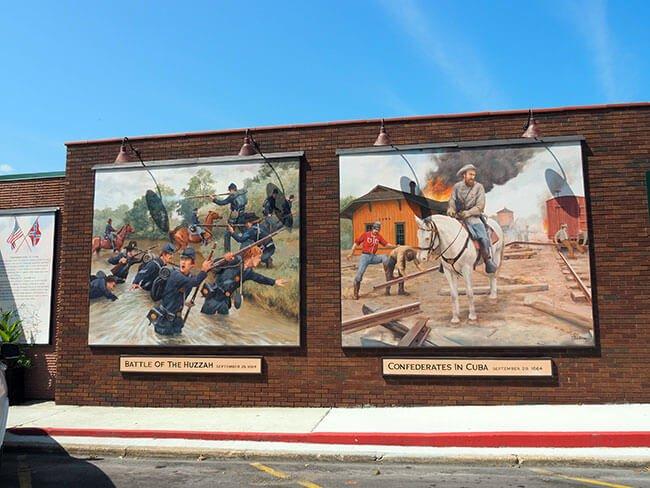 Murales de cuba referentes a la guerra de secesión de Estados Unidos