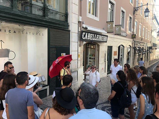 Inicio de nuestro free tour en Lisboa
