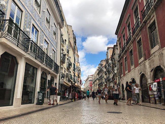 Barrio de Baixa en Lisboa