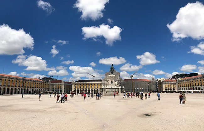 Plaza de Comercio en Lisboa