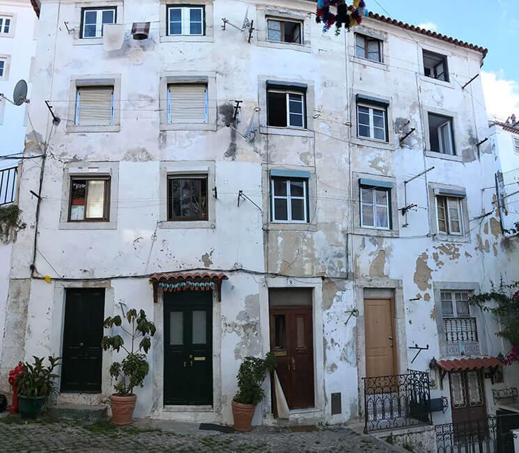 Casas en el Barrio de Alfama