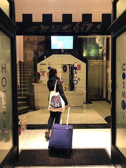 Llegando al Cosmov Bilbao Hotel