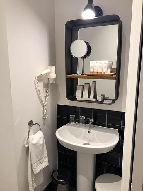El baño de nuestro alojamiento en Bilbao