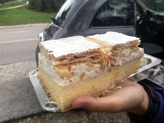 Kremna rezina, pastel típico de Bled - Eslovenia
