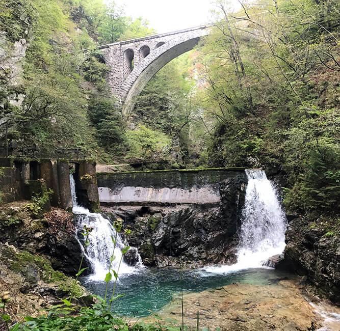 El parque natural Vintgar en Eslovenia