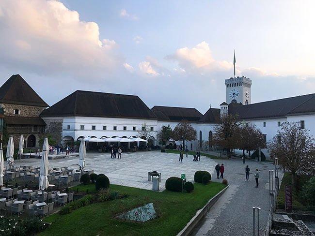 El interior del castillo de Ljubljana - Eslovenia