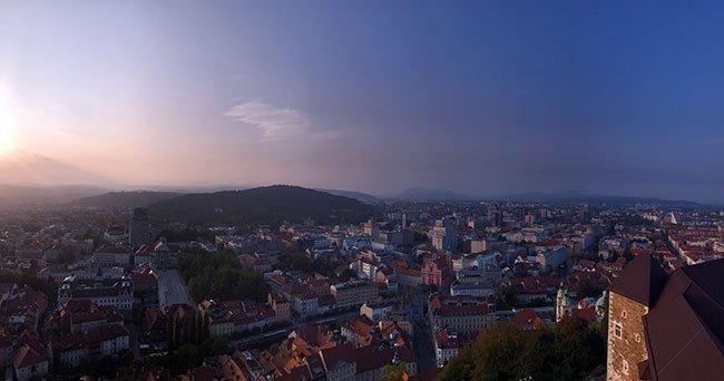 Vistas de Ljubljana desde el mirador del castillo - Eslovenia