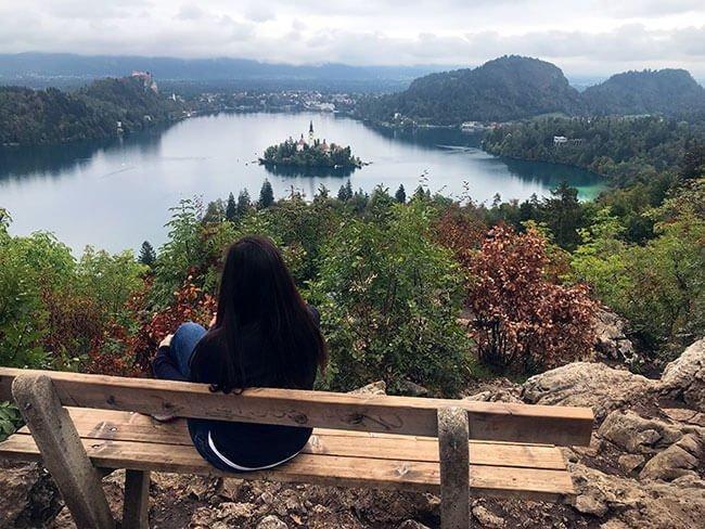 El Lago de Bled situado al noroeste de Eslovenia