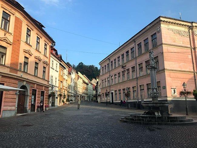 Las preciosas plazas de Ljubljana, Eslovenia