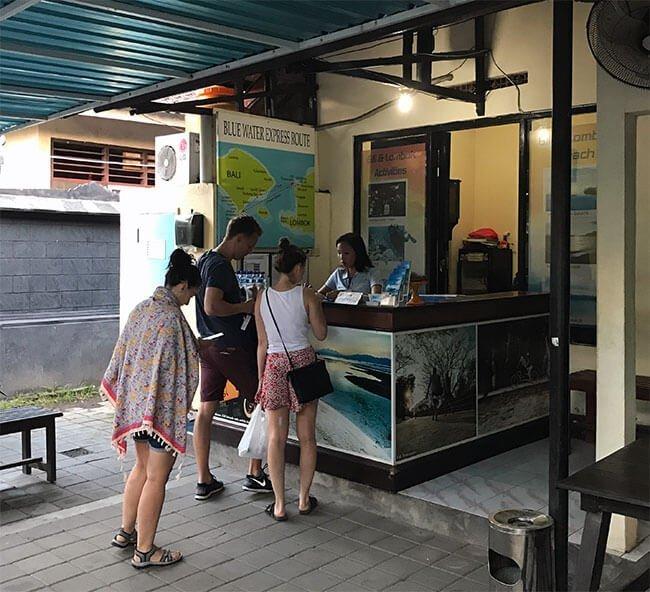 La parada del ferry hacia las Islas Gili
